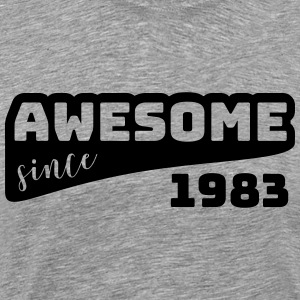 Awesome since 1983 / Birthday-Shirt - Men's Premium T-Shirt