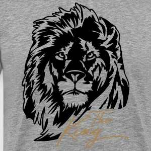The Lion - The King - Premium-T-shirt herr