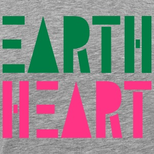 Earth Heart i geometriske figurer, - Herre premium T-shirt