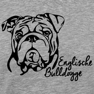 ENGLISHCE BULLDOG PORTRAIT - Men's Premium T-Shirt