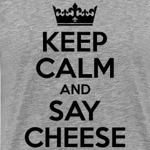 Keep Calm and say cheese - photographer - Men's Premium T-Shirt