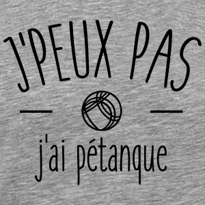 I can not I petanque - Men's Premium T-Shirt