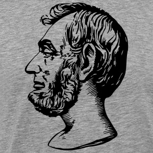 Abraham Lincoln - Premium T-skjorte for menn