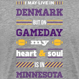 I may live in Denmark... (Minnesota edition) - Herre premium T-shirt