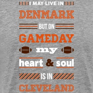 I may live in Denmark... (Cleveland edition) - Herre premium T-shirt