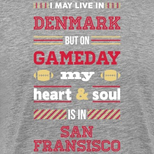 I may live in Denmark... (San Fransisco edition) - Herre premium T-shirt