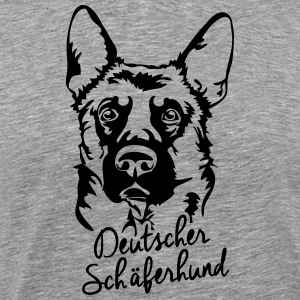 GERMAN SHEPHERD PORTRAIT - Men's Premium T-Shirt