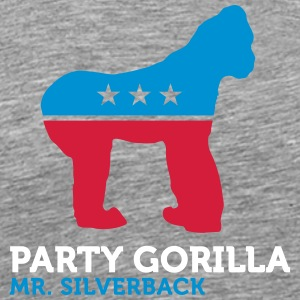 Political Party Animals: Gorilla - Men's Premium T-Shirt
