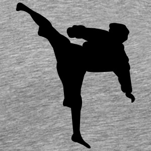 Karate Fighter silhouette 4 - T-shirt Premium Homme