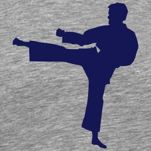 Karate fighter silhouette 7 - T-shirt Premium Homme