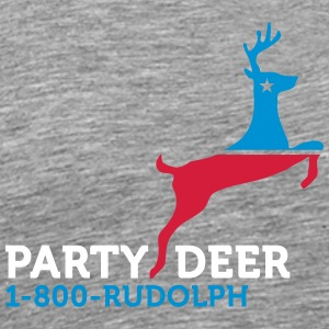 Political Party Animals: Reindeer - Men's Premium T-Shirt