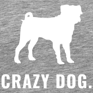 Pug - Crazy Dog - Herre premium T-shirt