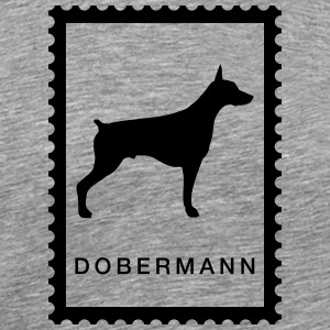 Stamp Doberman - Premium T-skjorte for menn