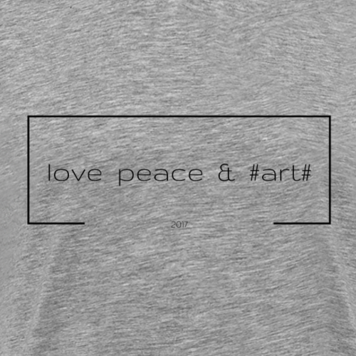 love peace & #art# - schwarz - Männer Premium T-Shirt