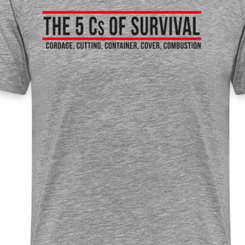 5Cs of Survival Banner - Premium-T-shirt herr