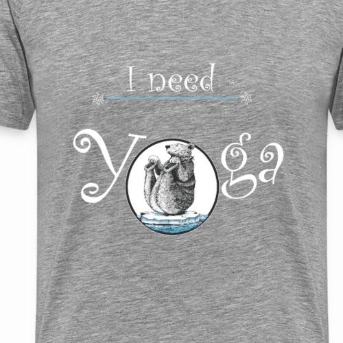ours qui fait du yoga - T-shirt Premium Homme