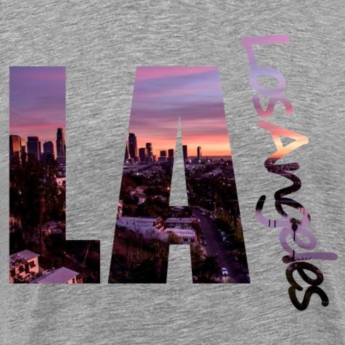 LA - Los Angeles skyline - Men's Premium T-Shirt