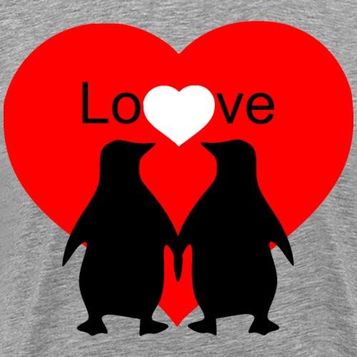 Pinguine mit Herz - Männer Premium T-Shirt