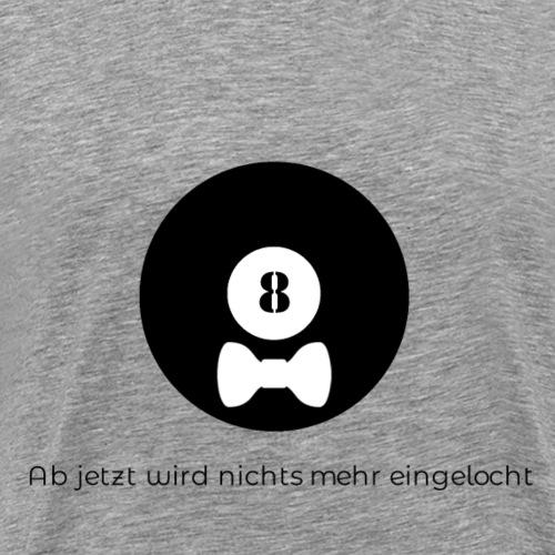 Billard Acht mit Schleife Junggesellenabschied JGA - Männer Premium T-Shirt