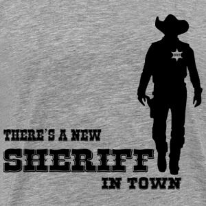 SHERIFF - Premium T-skjorte for menn