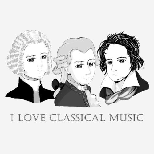 Bach - Mozart - Beethoven im Chibi-Style - Männer Premium T-Shirt