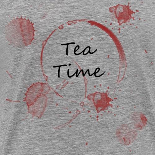 Tea Time, Zeit für Tee - Männer Premium T-Shirt