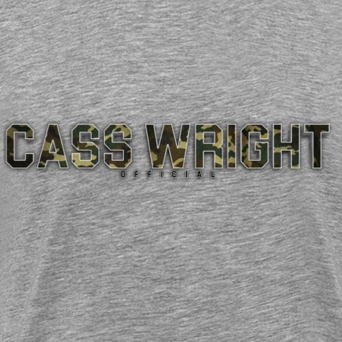 cass wright official camo text - Men's Premium T-Shirt
