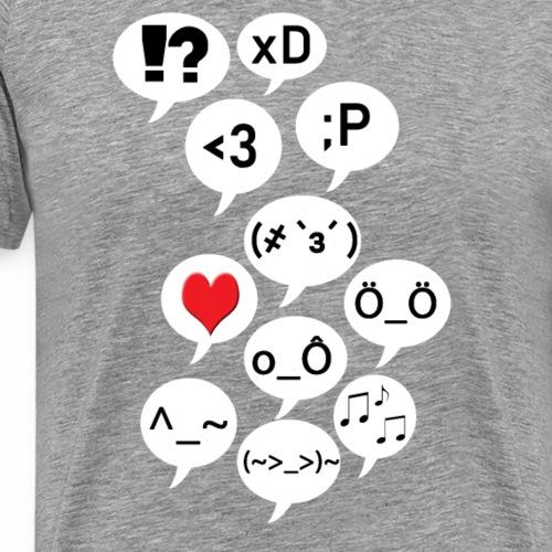 Emoji Blah - Männer Premium T-Shirt