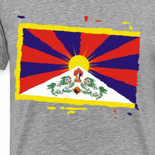 Tibet Flagge - Männer Premium T-Shirt
