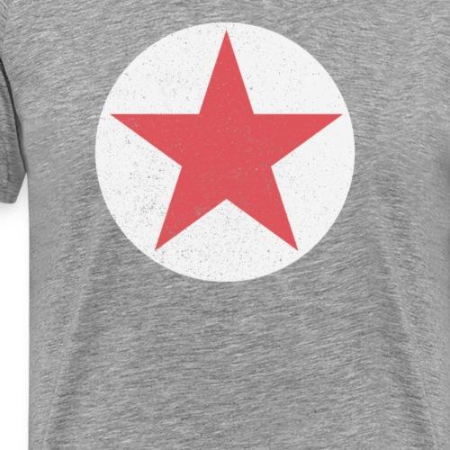 Grunge Stern in Rot auf Weiß Shirt - Männer Premium T-Shirt