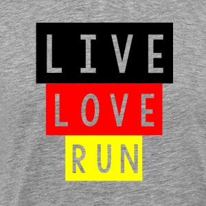 LIVE LOVE RUN - Premium T-skjorte for menn