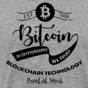 Bitcoin vintage design 09 - Herre premium T-shirt