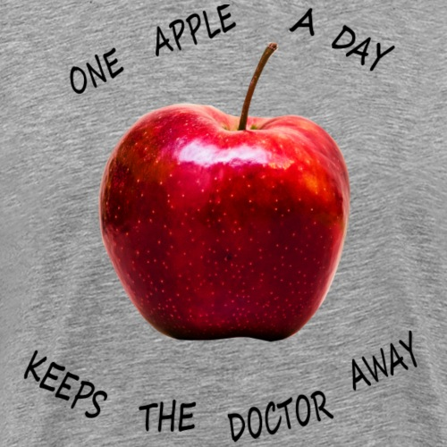 One apple a day keeps the doctor away! - Männer Premium T-Shirt