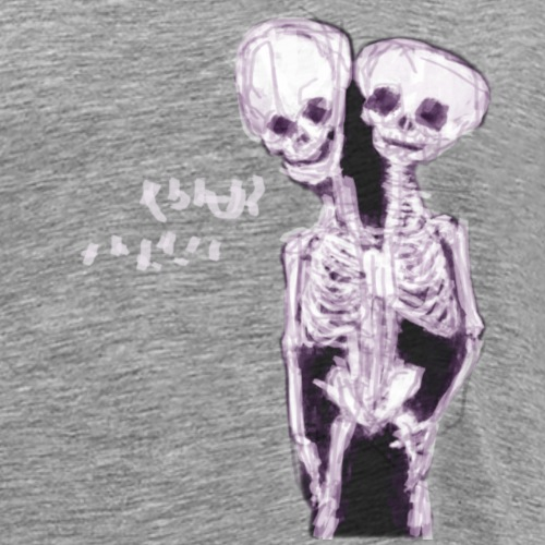Esqueleto de cabeza doble - Camiseta premium hombre