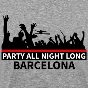 BARCELONA Party All Night Long - Herre premium T-shirt