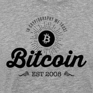 Bitcoin vuosikerta suunnittelu 01 - Miesten premium t-paita