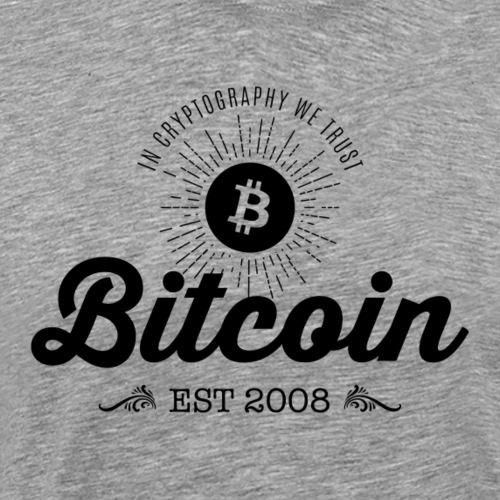 Bitcoin diseño de la vendimia 01 - Camiseta premium hombre