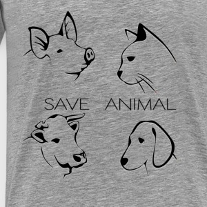 Save Animal - Mannen Premium T-shirt