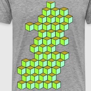 Impossible Cube T-shirts - Herre premium T-shirt