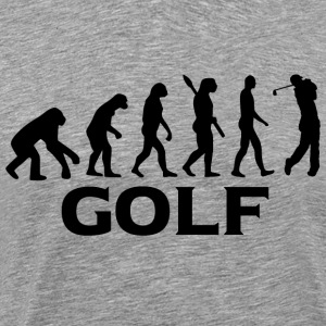 Evolution golf golfspiller golf bt - Herre premium T-shirt