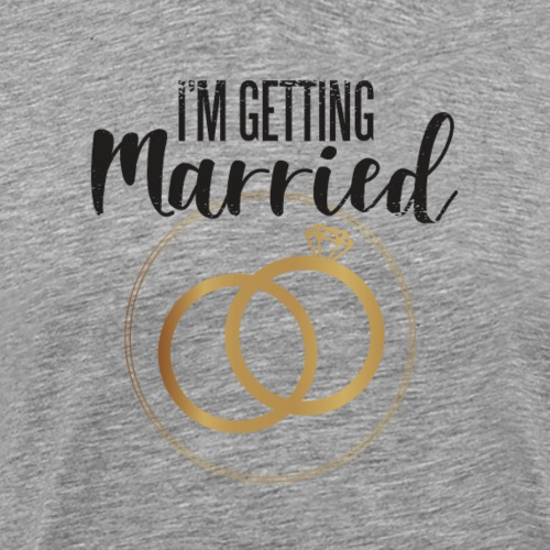 I´m getting married, Ich heirate - Männer Premium T-Shirt