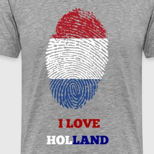 I LOVE HOLLAND T-SHIRT FINGERAVTRYKKS - Premium T-skjorte for menn