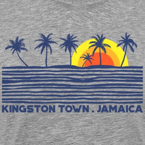 Kingston Town. Jamaica (Dark Label) - Männer Premium T-Shirt