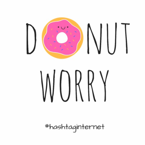 donut worry be happy - Männer Premium T-Shirt