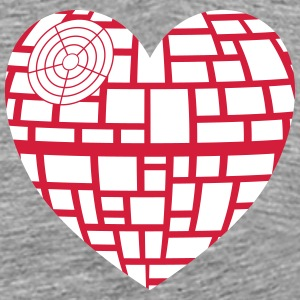 Death Star Heart Vector - Premium-T-shirt herr