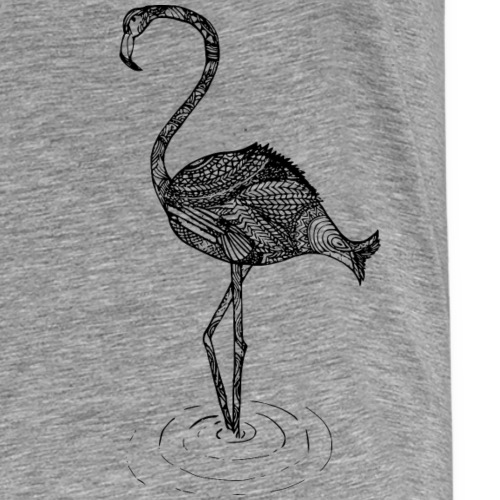 Flamingo Fisch Fusion im Inka Style gemustert! - Männer Premium T-Shirt