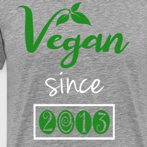 Vegan Since 2013 - Men's Premium T-Shirt