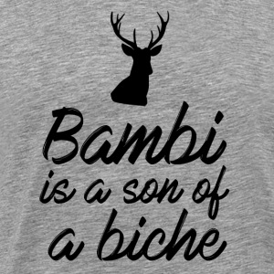 Bambi is a son of a doe - Men's Premium T-Shirt