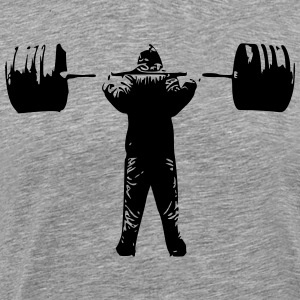 squat Barbell - Premium-T-shirt herr