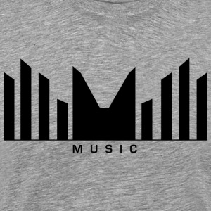 Music Logo Sound barer - Premium T-skjorte for menn